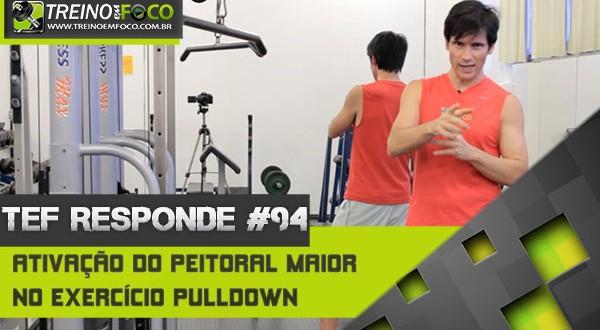 Ativação do peitoral maior (porção inferior) no exercício de pulldown